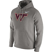 Nike Men's Virginia Tech Hokies Grey Club Hoodie