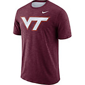 Nike Men's Virginia Tech Hokies Maroon Dri-FIT Football Sideline Slub T-Shirt