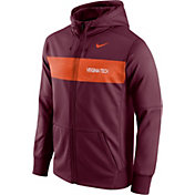 Nike Men's Virginia Tech Hokies Maroon Therma-FIT Full-Zip Sideline Hoodie
