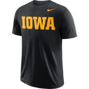 Nike Men's Iowa Hawkeyes Wordmark Black T-Shirt