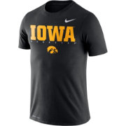 Nike Men's Iowa Hawkeyes Football Dri-FIT Facility Black T-Shirt