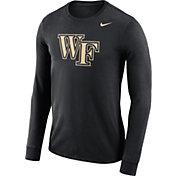 Nike Men's Wake Forest Demon Deacons Black Dri-FIT Logo Long Sleeve Shirt