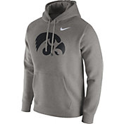 Nike Men's Iowa Hawkeyes Grey Club Hoodie