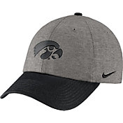 Nike Men's Iowa Hawkeyes Grey/Black Heritage86 Heather Adjustable Hat