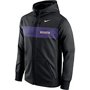 Nike Men's Washington Huskies Black Therma-FIT Full-Zip Sideline Hoodie