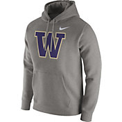 Nike Men's Washington Huskies Grey Club Fleece Hoodie