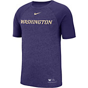 Nike Men's Washington Huskies Purple Raglan Sideline T-Shirt