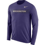 Nike Men's Washington Huskies Purple Dri-FIT Legend Long Sleeve Sideline T-Shirt