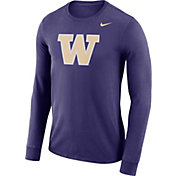 Nike Men's Washington Huskies Purple Dri-FIT Logo Long Sleeve Shirt