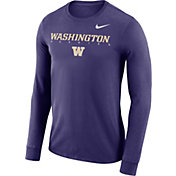 Nike Men's Washington Huskies Purple Football Dri-FIT Facility Long Sleeve T-Shirt