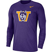 Nike Men's Washington Huskies Heathered Purple Vault Tri-Blend Long Sleeve Tee