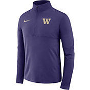 Nike Men's Washington Huskies Purple Core Half-Zip Shirt