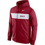 Nike Men's Washington State Cougars Crimson Therma-FIT Full-Zip Sideline Hoodie
