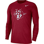 Nike Men's Washington State Cougars Heathered Crimson Vault Tri-Blend Long Sleeve Tee