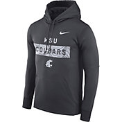 Nike Men's Washington State Cougars Grey Therma-FIT Pullover Sideline Hoodie