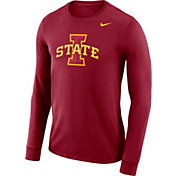 Nike Men's Iowa State Cyclones Cardinal Dri-FIT Logo Long Sleeve Shirt