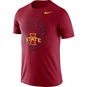 Nike Men's Iowa State Cyclones Cardinal Dri-FIT Football Icon T-Shirt