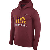 Nike Men's Iowa State Cyclones Cardinal Football Sideline Therma-FIT Hoodie