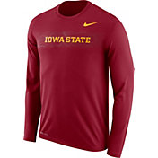 Nike Men's Iowa State Cyclones Cardinal Dri-FIT Legend Long Sleeve Sideline T-Shirt