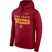 Nike Men's Iowa State Cyclones Cardinal Therma-FIT Pullover Sideline Hoodie