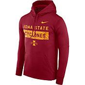 Nike Men's Iowa State Cyclones Cardinal Therma-FIT Pullover Sideline Hoodie