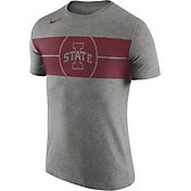 Nike Men's Iowa State Cyclones Grey Logo Basketball T-Shirt