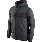 Nike Men's Iowa State Cyclones Anthracite Therma-FIT Full-Zip Sideline Hoodie