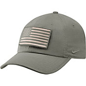 Nike Men's West Virginia Mountaineers Grey Heritage86 Tactical Adjustable Hat