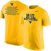 Nike Men's West Virginia Mountaineers Gold 'Hail West Virginia' 2017 Fan T-Shirt