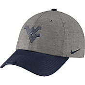 Nike Men's West Virginia Mountaineers Grey/Blue Heritage86 Heather Adjustable Hat