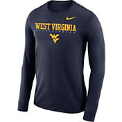 Nike Men's West Virginia Mountaineers Blue Football Dri-FIT Facility Long Sleeve T-Shirt