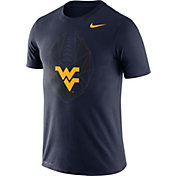 Nike Men's West Virginia Mountaineers Blue Dri-FIT Football Icon T-Shirt
