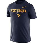 Nike Men's West Virginia Mountaineers Blue Football Dri-FIT Facility T-Shirt