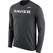 Nike Men's Xavier Musketeers Grey Legend Long Sleeve Shirt