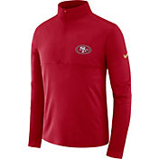 Nike Men's San Francisco 49ers Core Performance Red Half-Zip Pullover Top