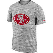 Nike Men's San Francisco 49ers Legend Velocity Travel Performance Grey T-Shirt