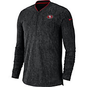 Nike Men's San Francisco 49ers Sideline Coaches Half-Zip Black Pullover