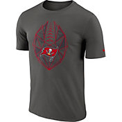 Nike Men's Tampa Bay Buccaneers Icon Performance Pewter T-Shirt
