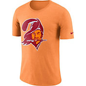 Nike Men's Tampa Bay Buccaneers Historic Crackle Tri-Blend Orange T-Shirt