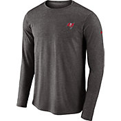 Nike Men's Tampa Bay Buccaneers Sideline Coaches Performance Pewter Long Sleeve Shirt