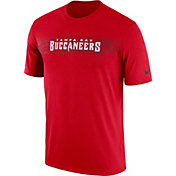 Nike Men's Tampa Bay Buccaneers Sideline Seismic Legend Performance Red T-Shirt