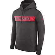 Nike Men's Tampa Bay Buccaneers Sideline Therma-FIT Pewter Pullover Hoodie