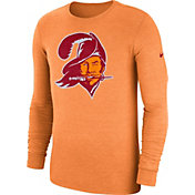 Nike Men's Tampa Bay Buccaneers Tri-Blend Historic Crackle Orange Long Sleeve Shirt