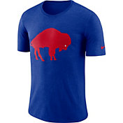 Nike Men's Buffalo Bills Historic Crackle Tri-Blend Royal T-Shirt