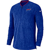 Nike Men's Buffalo Bills Sideline Coaches Half-Zip Royal Pullover