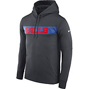 Nike Men's Buffalo Bills Sideline Therma-FIT Anthracite Pullover Hoodie