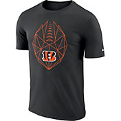 Nike Men's Cincinnati Bengals Icon Performance Black T-Shirt