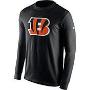 Nike Men's Cincinnati Bengals Logo Black Long Sleeve Shirt