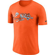 Nike Men's Cincinnati Bengals Historic Crackle Tri-Blend Orange T-Shirt