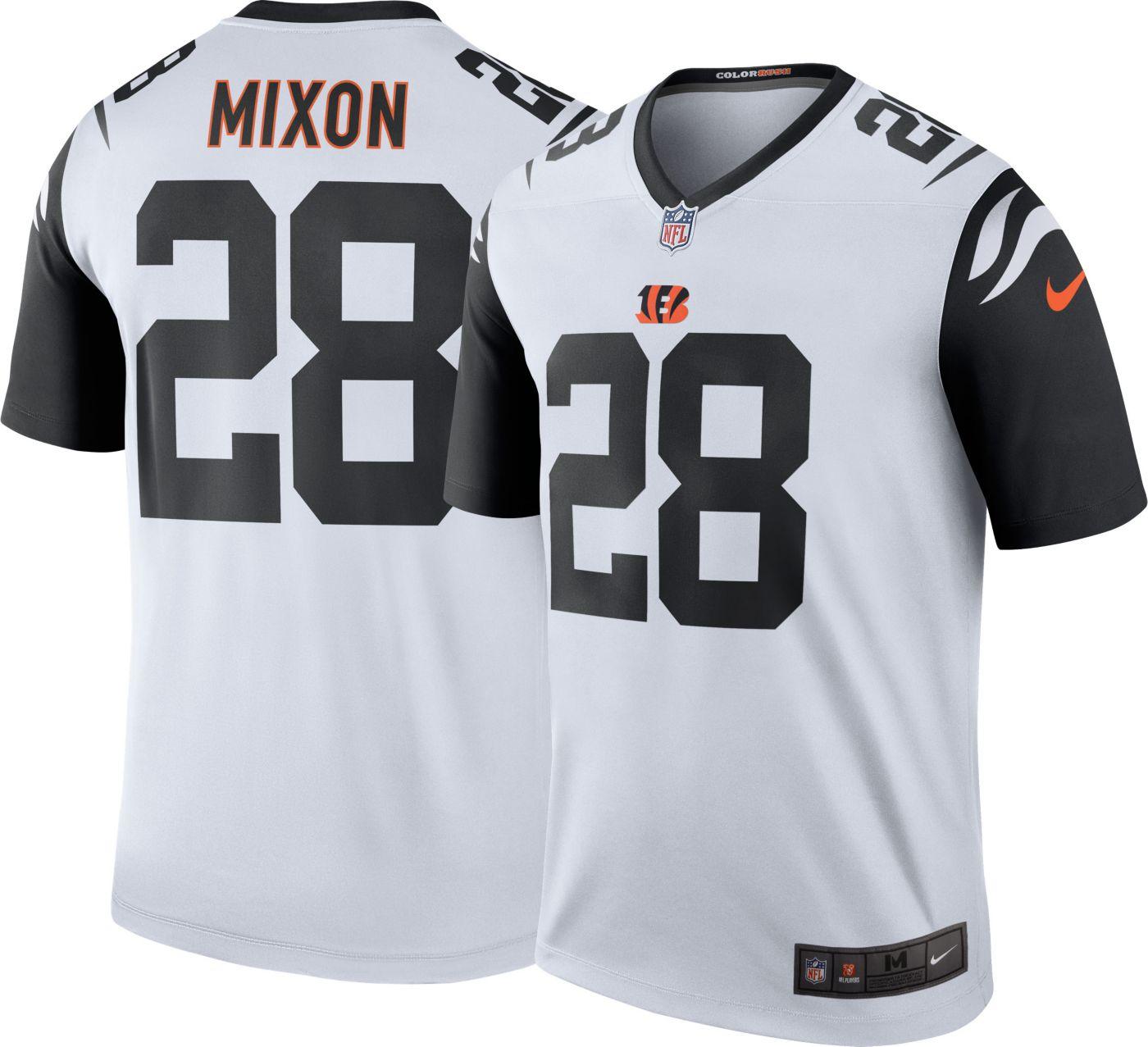 Nike Men's Color Rush Legend Jersey Cincinnati Bengals Joe Mixon #28